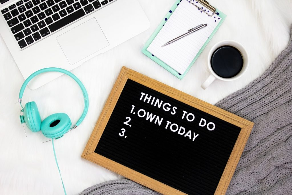 working from home to do list
